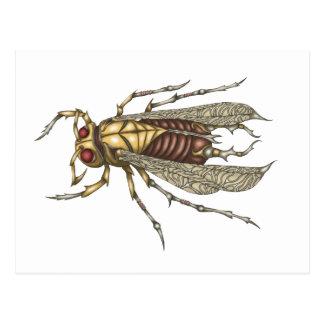Carte Postale Insecte de Steampunk