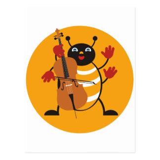 Carte Postale Insecte de violoncelle