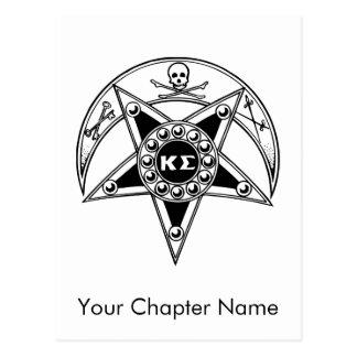 Carte Postale Insigne de sigma de Kappa
