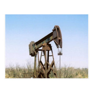 Carte Postale Installation de pompage d'huile