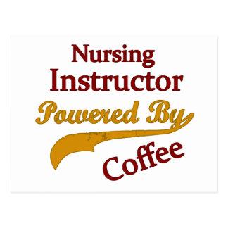 Carte Postale Instructeur de soins actionné par le café