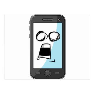 Carte Postale Instrument avec l'expression drôle - Smartphone