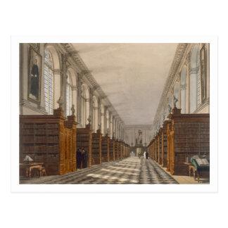 Carte Postale Intérieur de bibliothèque universitaire de