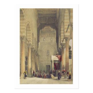 Carte Postale Intérieur de la mosquée du Metwalys, le Caire,