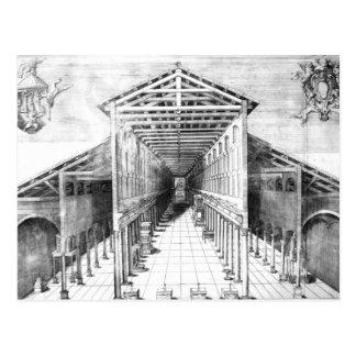Carte Postale Intérieur de vieux St Peter, Rome