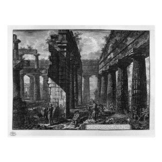 Carte Postale Intérieur des pronaos du temple lui-même