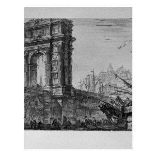 Carte Postale Inversion du temple de Pola dans Istria