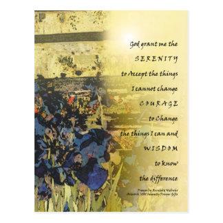 Carte Postale Iris et barrière de prière de sérénité
