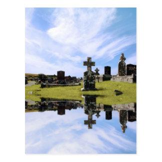 carte postale irlandaise de cimetière