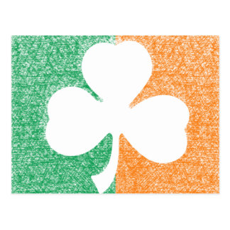 Carte postale irlandaise de coutume de shamrock