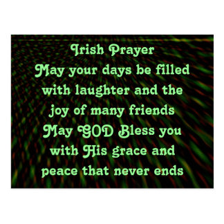 Carte postale irlandaise de prière