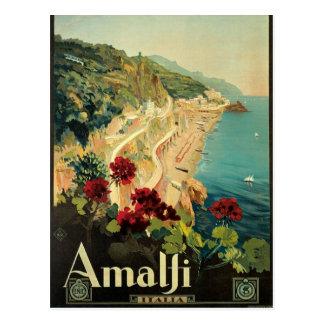 Carte postale italienne vintage d'Amalfi
