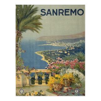 Carte postale italienne vintage de voyage de San R