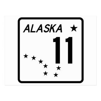 Carte Postale Itinéraire 11 d'état de l'Alaska