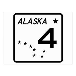 Carte Postale Itinéraire 4 d'état de l'Alaska