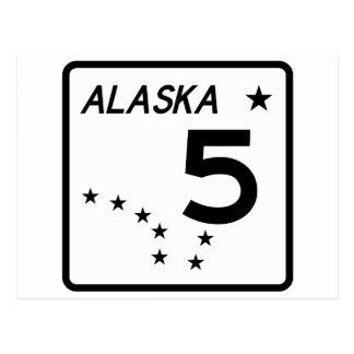 Carte Postale Itinéraire 5 d'état de l'Alaska