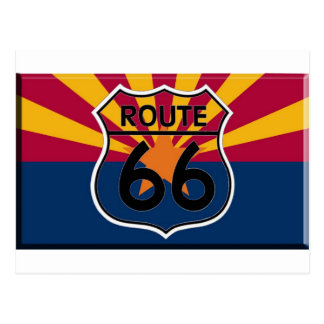 Carte Postale Itinéraire 66 de drapeau de l'Arizona