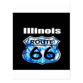 Carte Postale Itinéraire 66 de l'Illinois