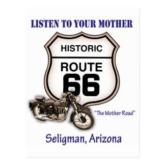 Carte Postale Itinéraire 66-Listen à votre mère Seligman