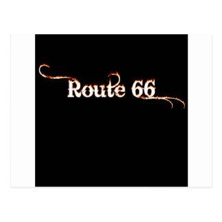 Carte Postale Itinéraire 66 sur le feu