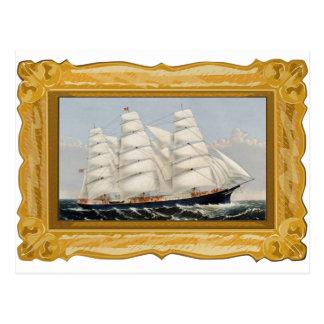 Carte Postale Ives  --Carte postale de bateau de tondeuse