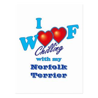 Carte Postale J'aboie la Norfolk Terrier