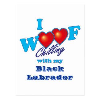 Carte Postale J'aboie Labrador noir