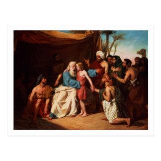 Carte Postale Jacob refusant de libérer Benjamin, 1829 (huile