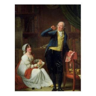 Carte Postale Jacques Delille et son épouse, 1802
