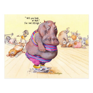 Carte Postale J'ai perdu 375 kilogrammes !