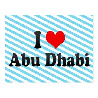 Carte Postale J'aime Abu Dhabi, Emirats Arabes Unis