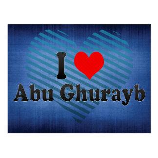 Carte Postale J'aime Abu Ghurayb, Irak