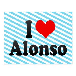 Carte Postale J'aime Alonso
