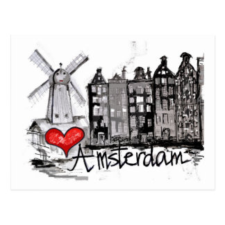 Carte Postale J'aime Amsterdam