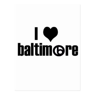 Carte Postale J'aime Baltimore