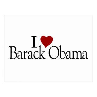 Carte Postale J'aime Barack Obama