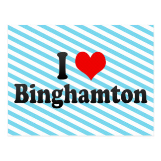 Carte Postale J'aime Binghamton, Etats-Unis