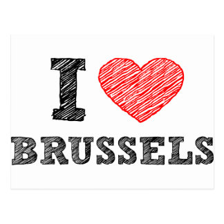 Carte Postale J'aime Bruxelles