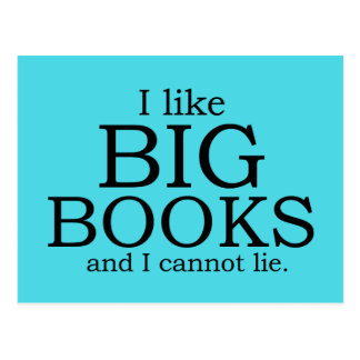 Carte Postale J'aime de grands livres et je ne peux pas me