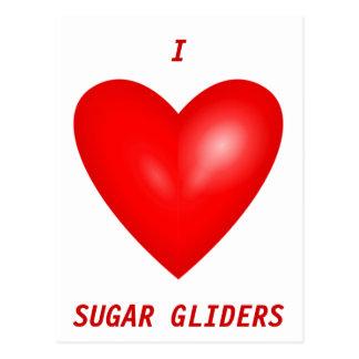 Carte Postale J'aime des planeurs de sucre