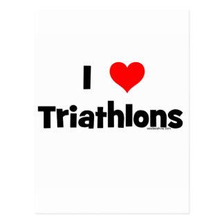 Carte Postale J'aime des triathlons