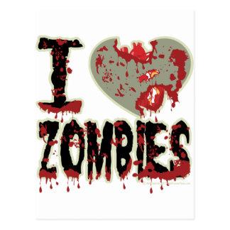 Carte Postale J'aime des zombis