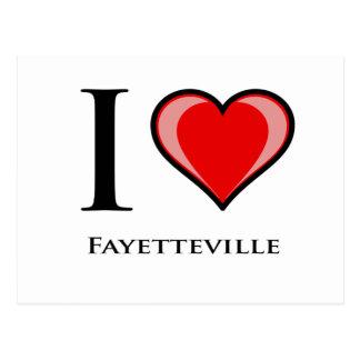 Carte Postale J'aime Fayetteville