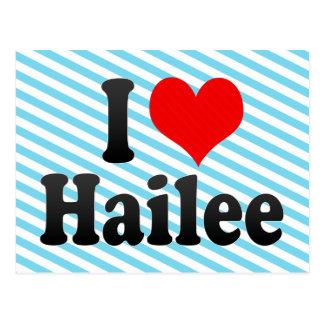 Carte Postale J'aime Hailee