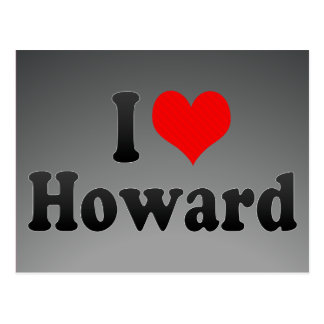Carte Postale J'aime Howard