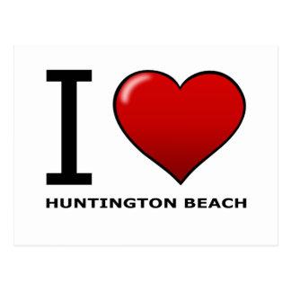 CARTE POSTALE J'AIME HUNTINGTON BEACH, CA - LA CALIFORNIE