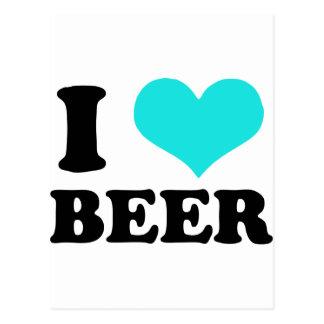 Carte Postale J'aime la bière