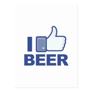 Carte Postale j'AIME la bière !