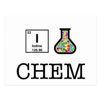 Carte Postale J'aime la chimie