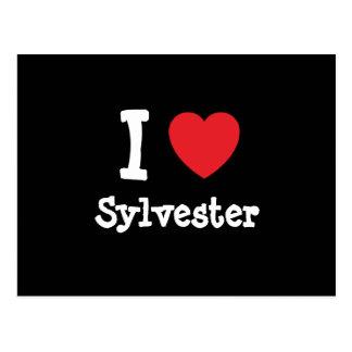 Carte Postale J'aime la coutume de coeur de Sylvester